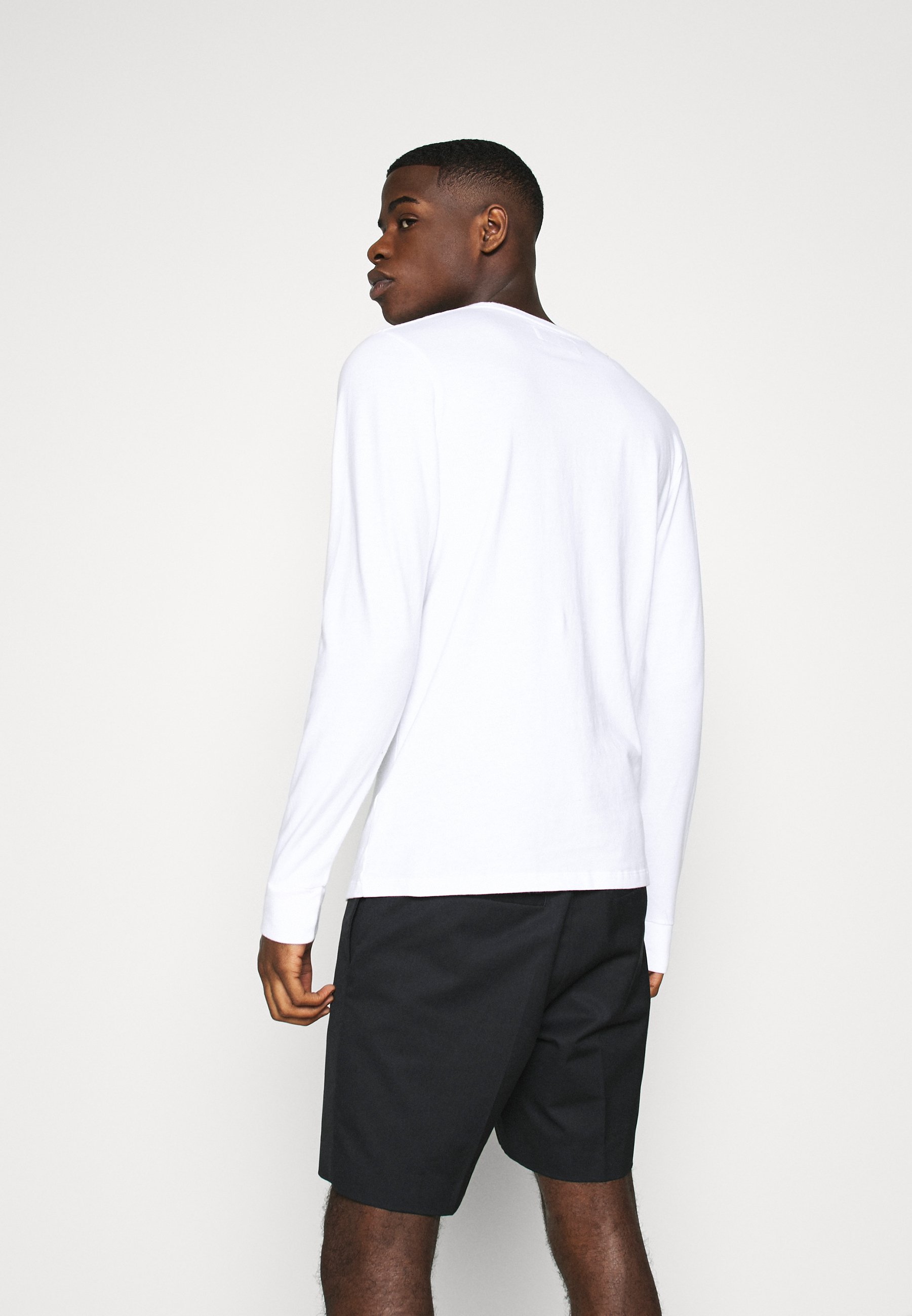 Abercrombie & Fitch Fall Icon Crews - Topper Langermet White/mørkegrå-melert