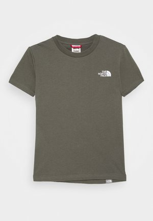 SIMPLE DOME UNISEX - Basic T-shirt - new taupe green