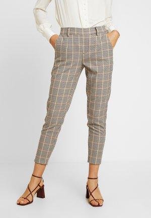 OBJLISA SLIM PANT SEASONAL - Trousers - brown patina