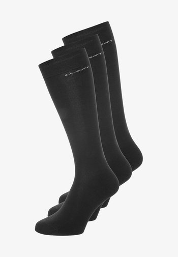 3PACK - Knee high socks - anthracite melange
