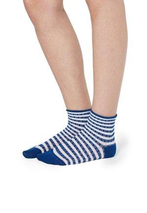Socks - righe coste bluette