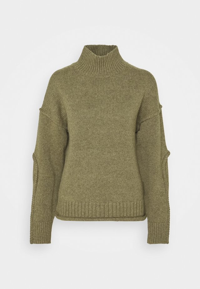 LUXE TURTLENECK  - Stickad tröja - moss