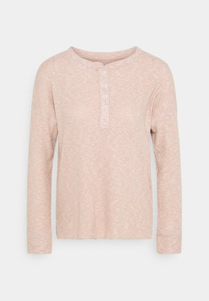 STITCHED HENLEY - Long sleeved top - blush