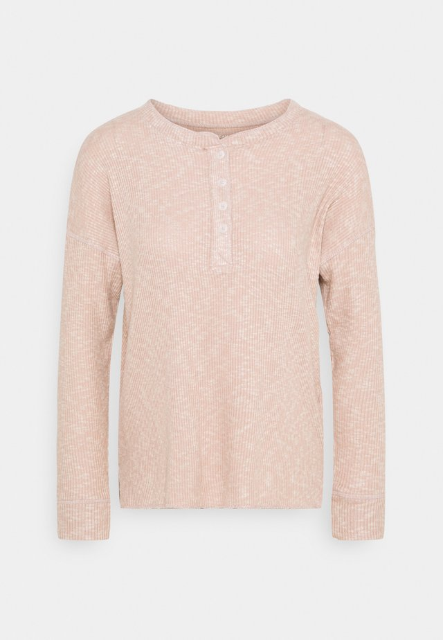 STITCHED HENLEY - Maglietta a manica lunga - blush