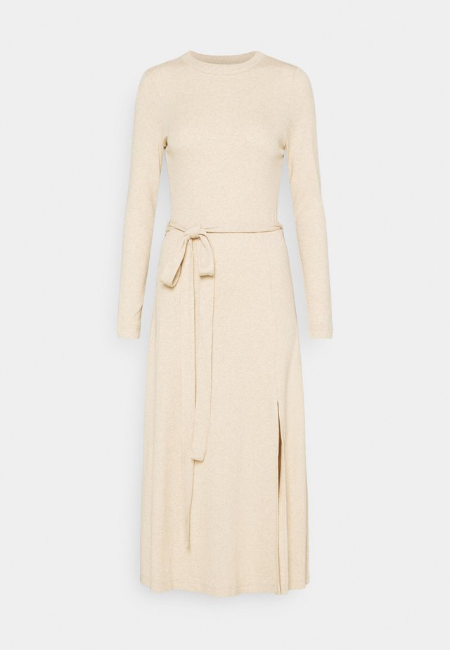 LONGSLEEVE DRESS - Jumper dress - oatmeal