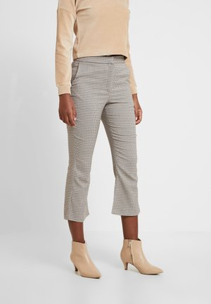 CROPPED KICK FLARE - Tygbyxor - brown
