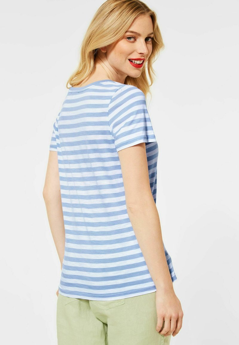 Street One - Print T-shirt - blau