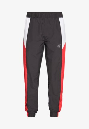 COLOR BLOCK TRACK PANT - Tracksuit bottoms - black/white/red