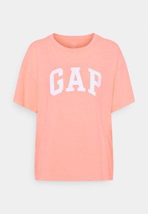EASY TEE - T-shirt print - neon coral volt
