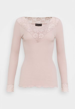 ORGANIC VNECK REGULAR - Topper langermet - vintage powder