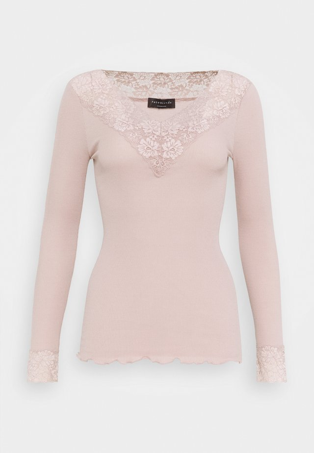 ORGANIC VNECK REGULAR - Long sleeved top - vintage powder