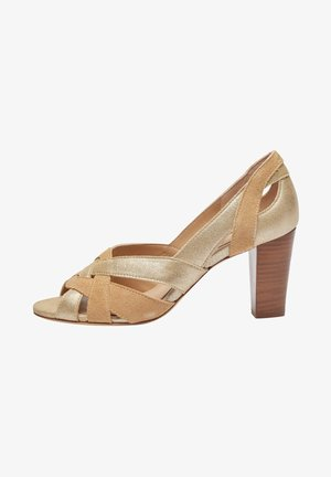 CLEMENTINE H - Peeptoes - champagne beige