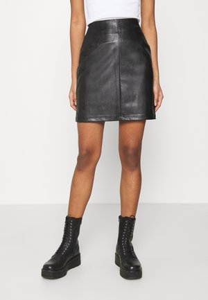 PCDEVORA SKIRT - Mini skirt - black
