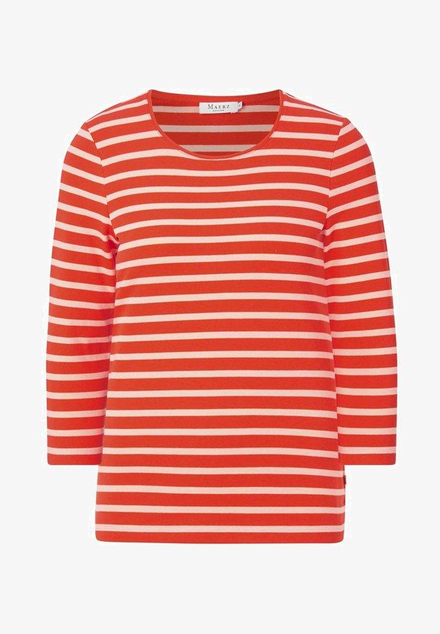 Long sleeved top - poppy orange