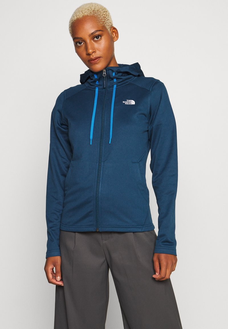 The North Face - WOMENS TECH MEZZALUNA HOODIE - Fleecejacke - blue wing teal