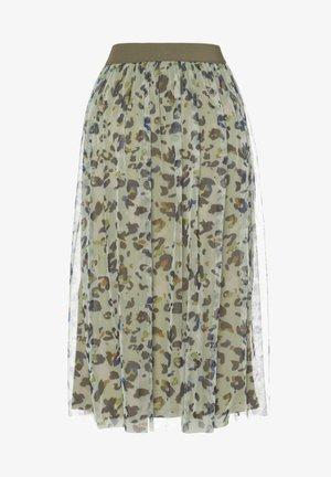 NEUER LEO - A-line skirt - khaki