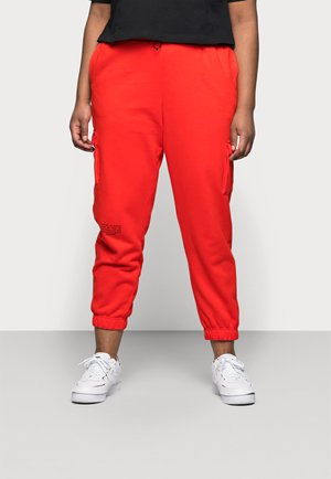 PANT - Cargo trousers - crimson/black