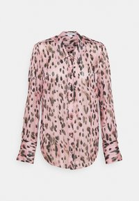 Milly - LEOPARD STRIPE BUTTON UP - Button-down blouse - pink multi - 5