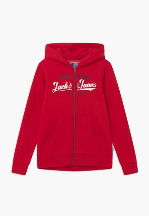 JJELOGO ZIP HOOD - Zip-up hoodie - tango red