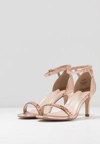 Dorothy Perkins Wide Fit - SLING MIRROR TRIM 2 PART - High heeled sandals - rose gold - 4