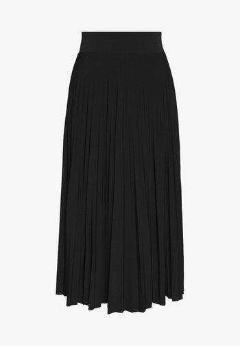 Plisse A-line midi skirt - Áčková sukně - black