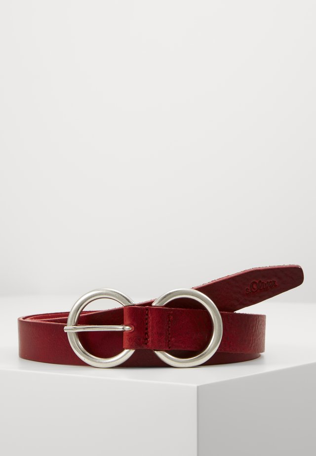 Belt - tomato red
