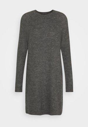 ONYSALLIE DRESS - Stickad klänning - dark grey melange