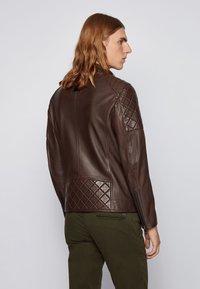 BOSS - JEEAN  - Leather jacket - dark brown - 2
