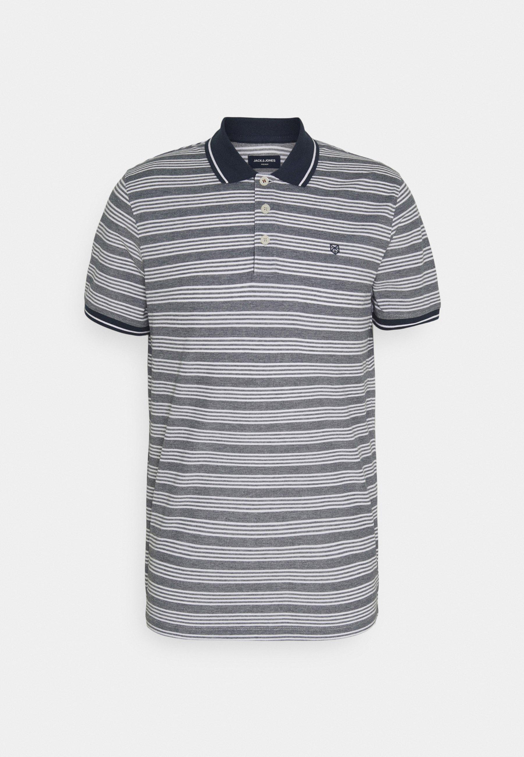 Men JPRBLUWIN LIGHT STRIPE - Polo shirt