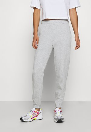 BASIC REGULAR FIT JOGGERS - Tracksuit bottoms - mottled light grey
