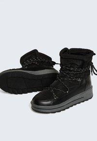OYSHO - Lace-up ankle boots - black - 6