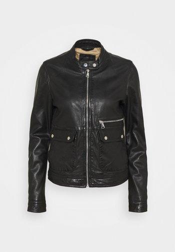 VENECIA - Leren jas - black