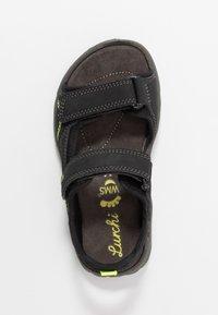 Lurchi - MANNI - Chodecké sandály - black - 1