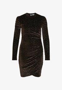 Vila - LEOPARDEN SAMT - Cocktail dress / Party dress - black - 5