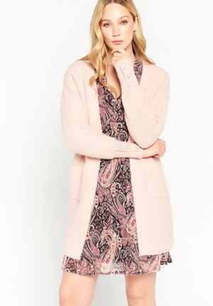 LONG WITH DECORATIVE BUTTONS - Cardigan - nude
