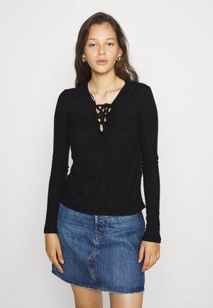 VIHIJI TIE DETAIL - Long sleeved top - black