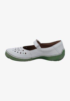Ankle strap ballet pumps - offwhite-kombi