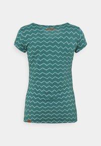 Ragwear - CHEVRON - Print T-shirt - dark green - 1
