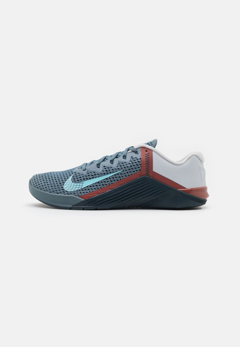 Nike Performance - METCON 6 UNISEX - Sports shoes - ozone blue/bleached aqua/pure platinum/deep ocean/claystone red