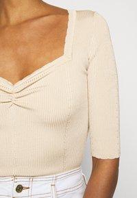 Claudie Pierlot - MINILI - Jednoduché triko - beige - 4