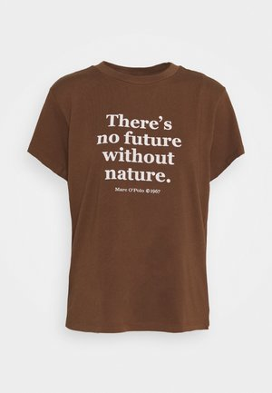 SHORT SLEEVE ROUND NECK - Print T-shirt - chestnut brown