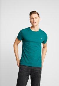 Abercrombie & Fitch - POP ICON CREW FRINGE - Camiseta básica - green - 0
