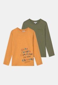 OVS - 2 PACK - T-shirt print - deep lichen green - 0