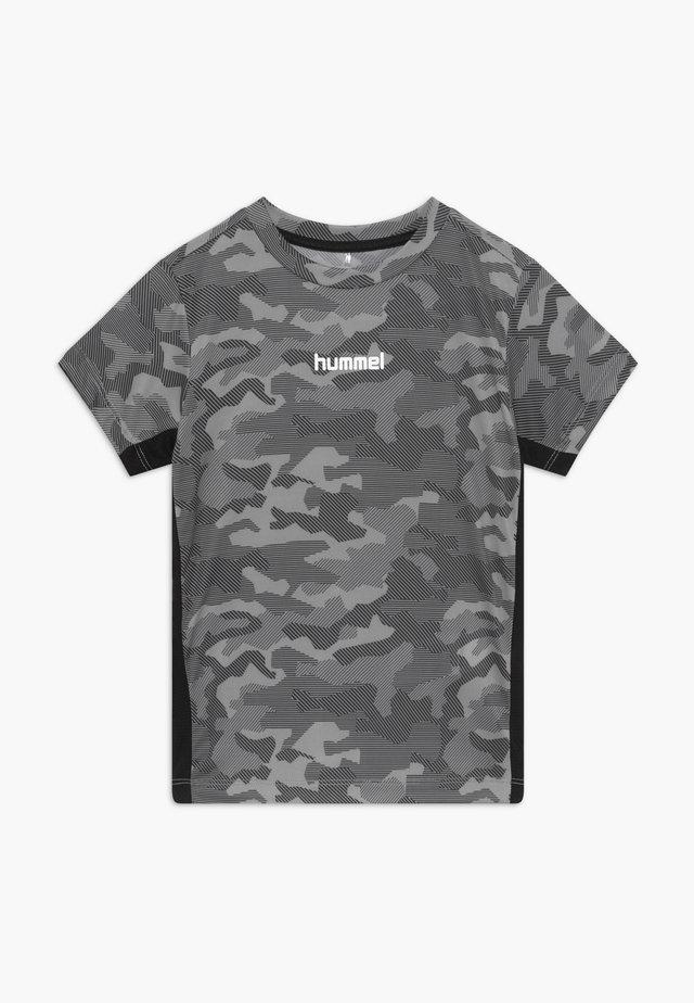 HMLRUSSEL  - T-shirt con stampa - blue-grey