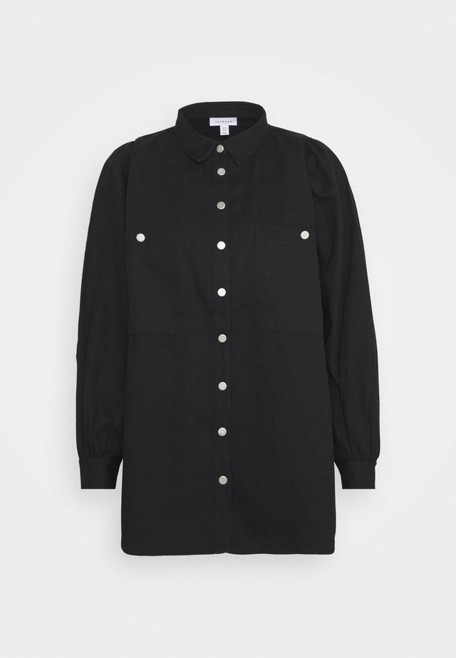CASUAL - Button-down blouse - black