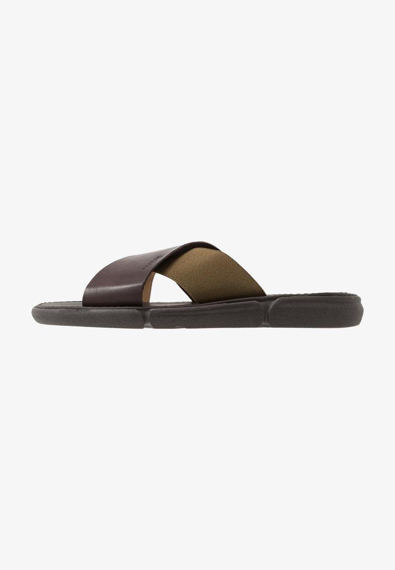 Barbour - ADAM  - Pantofle - olive/mocha