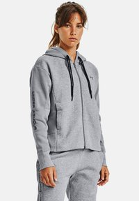 Under Armour - RIVAL - Zip-up hoodie - steel medium heather - 0