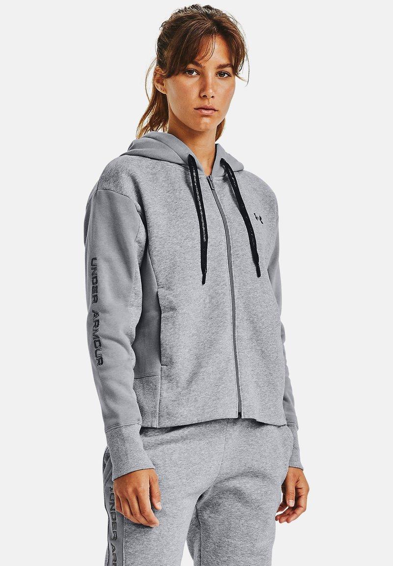 Under Armour - RIVAL - Zip-up hoodie - steel medium heather