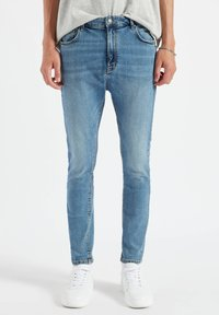 PULL&BEAR - Slim fit jeans - dark blue - 0