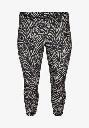 Leggings - Trousers - black zebra aop